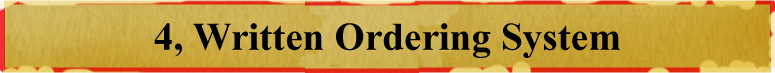 Written Ordering System