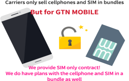In the case of a carrier, only a set of terminals and SIMs are on sale ... If GTN mobile, only contract for SIM is OK! Of course you can also contract with the terminal