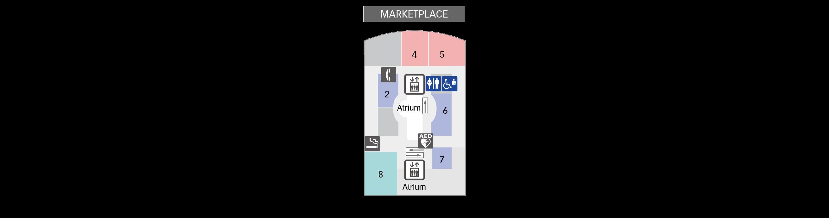 4F Restaurants & Shops floor map