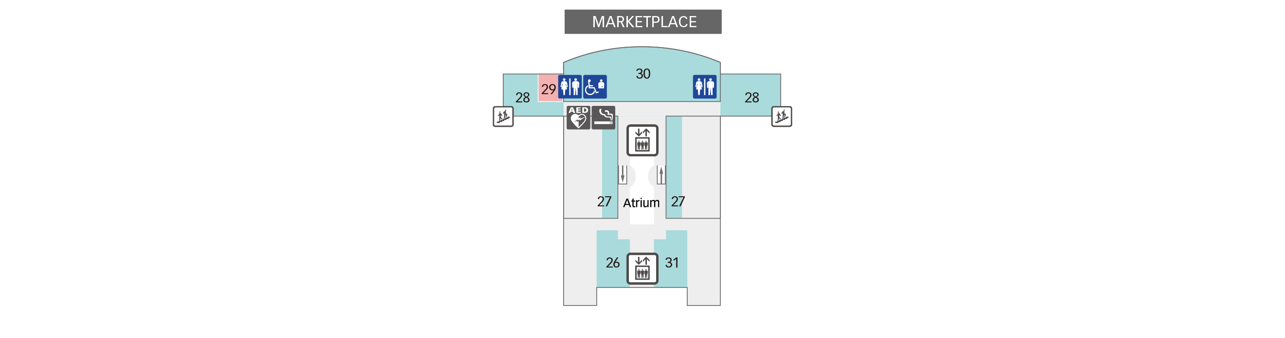 6F Convention Hall & Observation Deck Floor Map