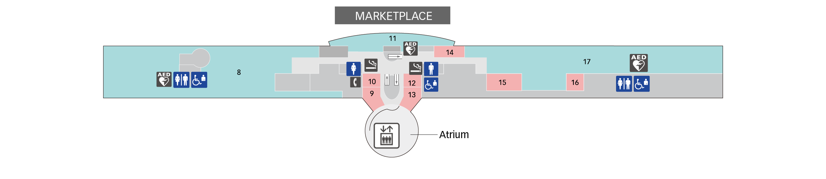 5F Restaurant /Observation Deck Floor Map
