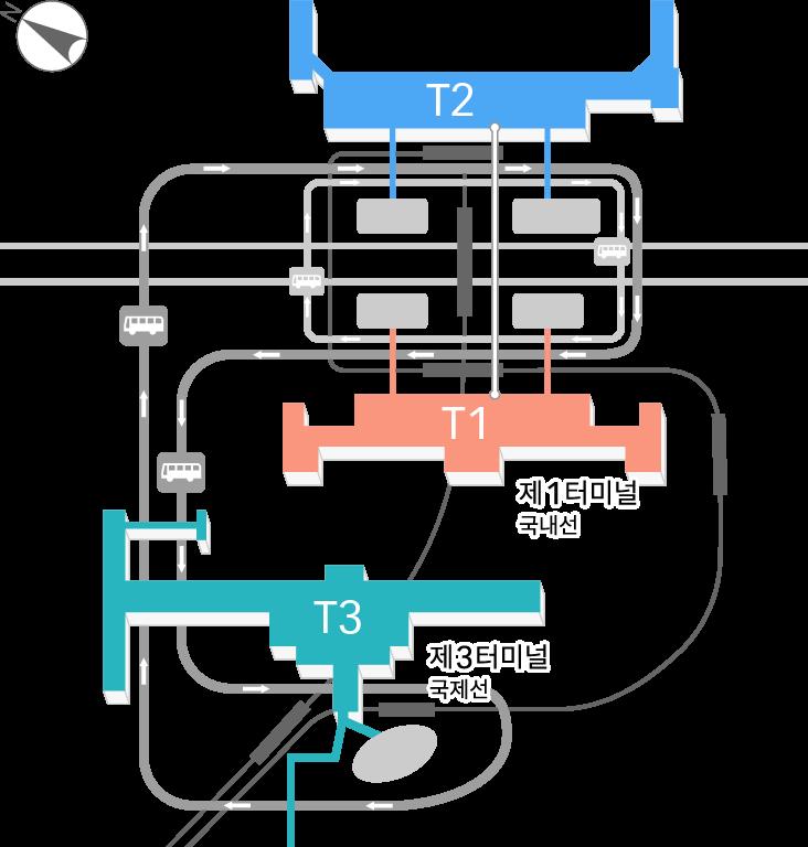 터미널 지도