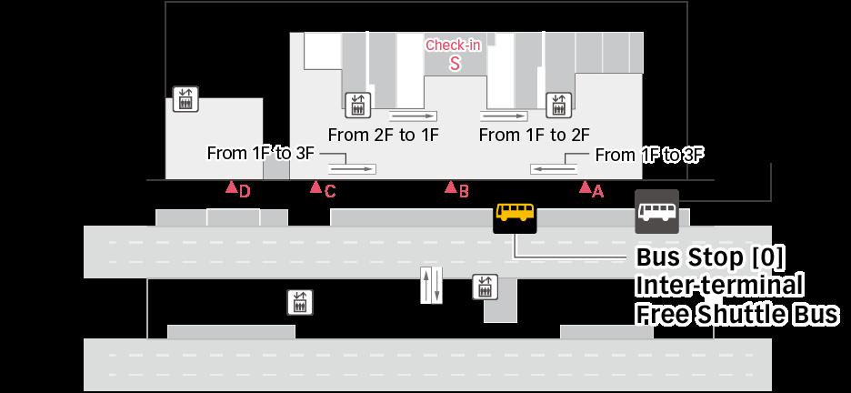 T3 제3터미널 버스 층별 지도 이미지