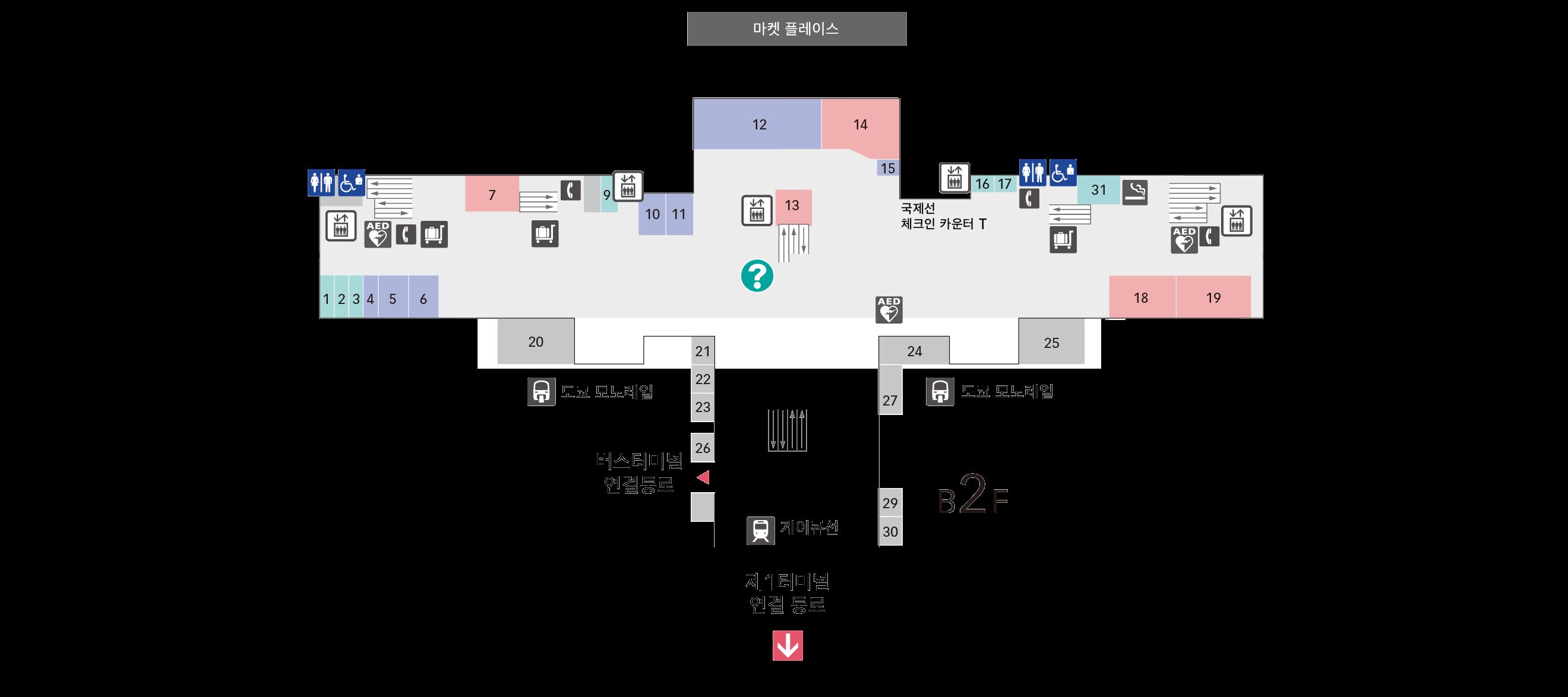 B1F 게이큐선· 도쿄 모노레일 플로어 맵