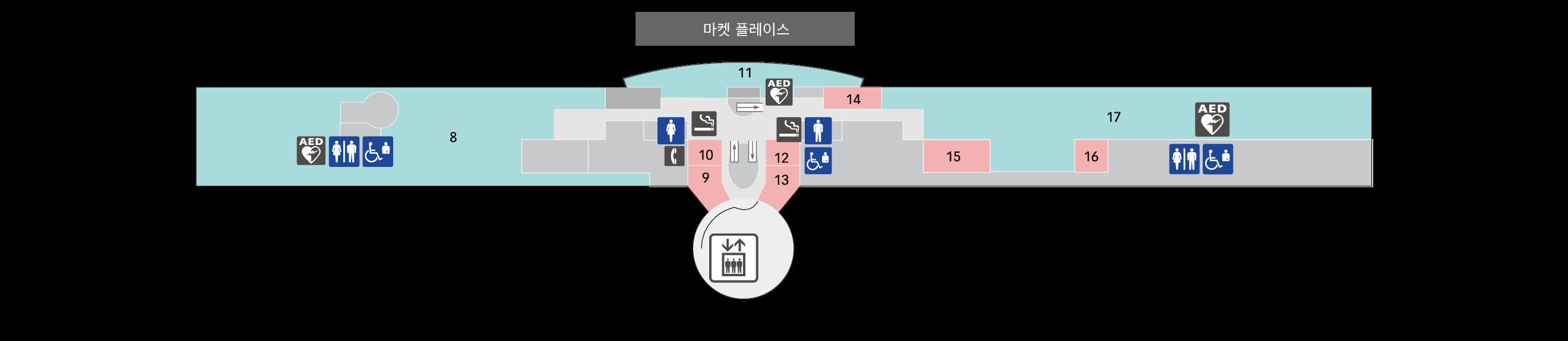 5F 레스토랑 ·전망 데크 플로어 맵