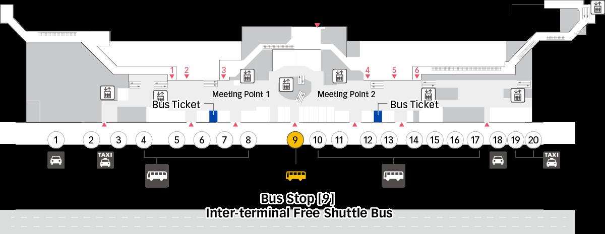 T2 第2航廈 巴士搭乘處 用圖像