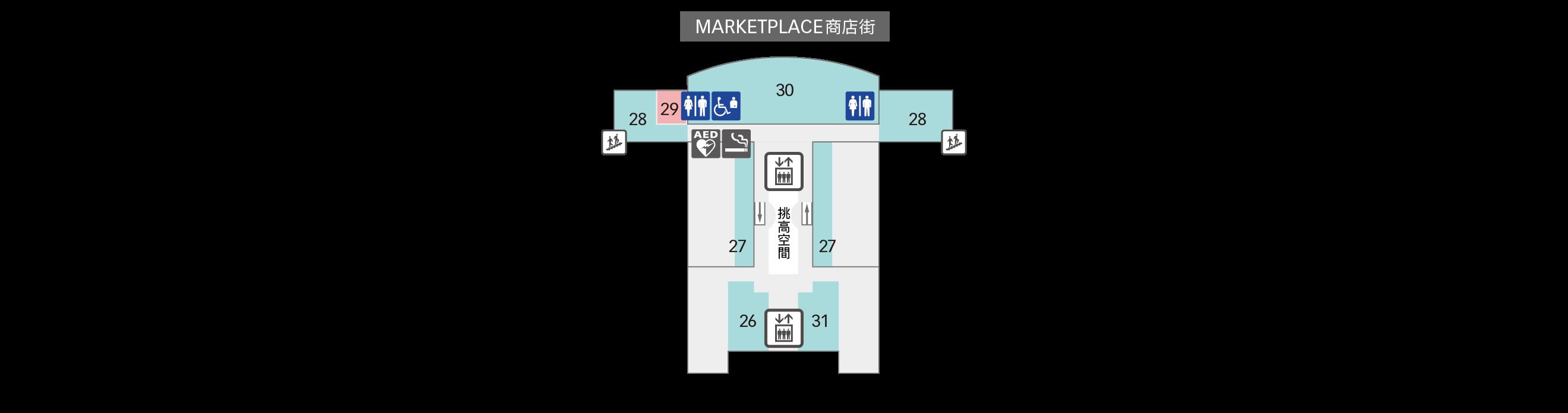 6F 會議廳・觀景台 樓層地圖