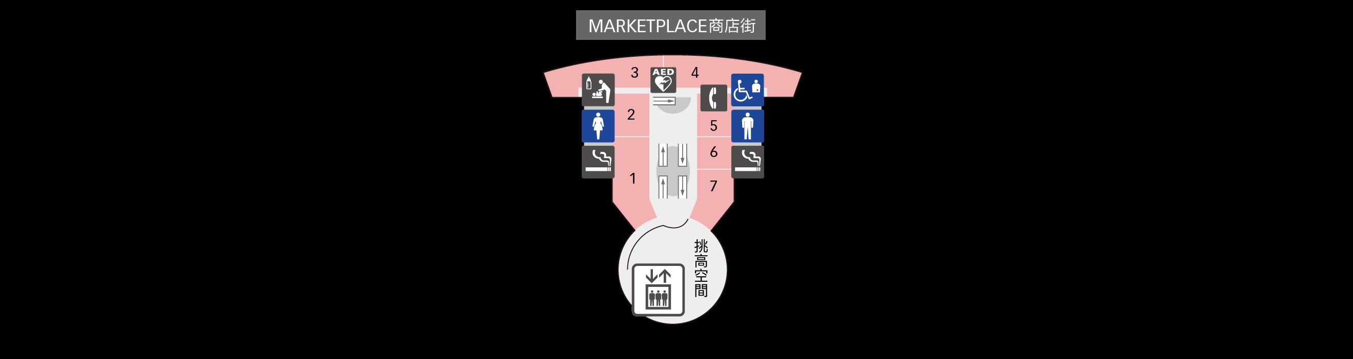 4F餐廳&商店樓層地圖