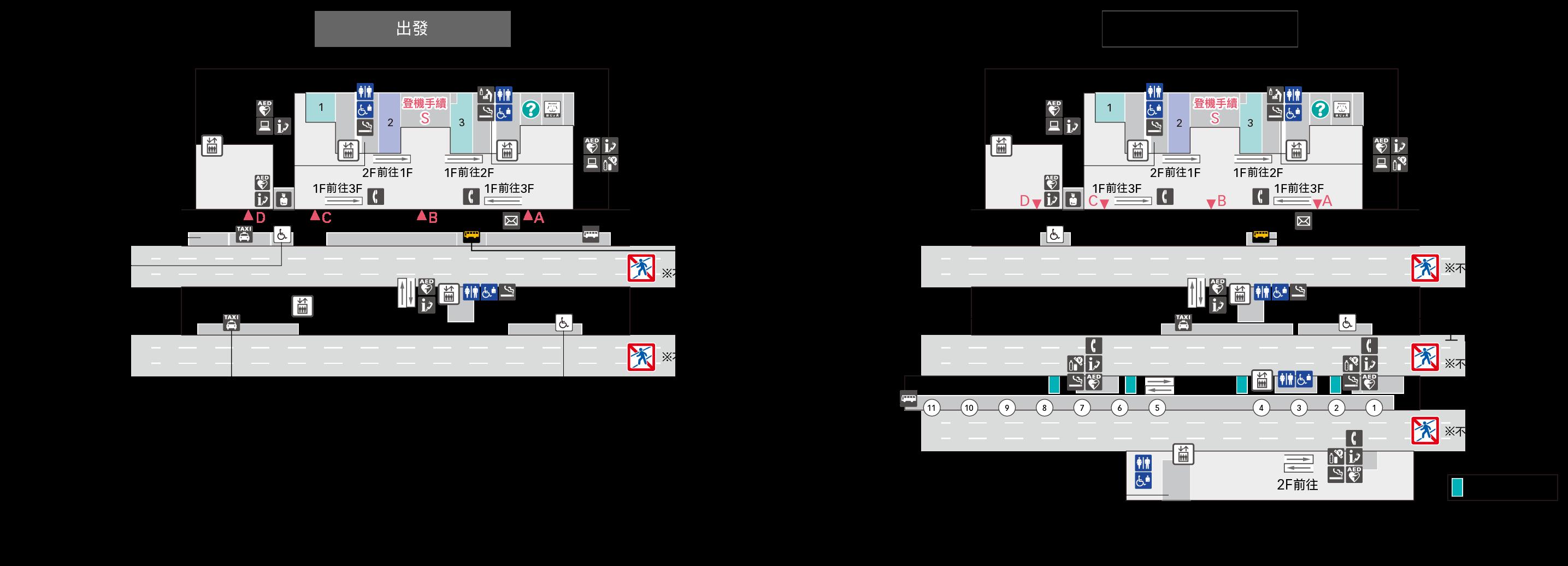 1F入口廣場樓層地圖