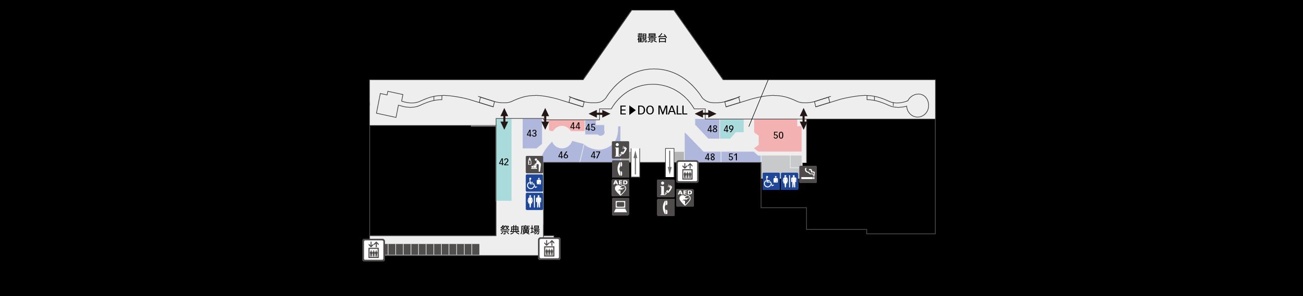 5F餐廳&商店樓層地圖