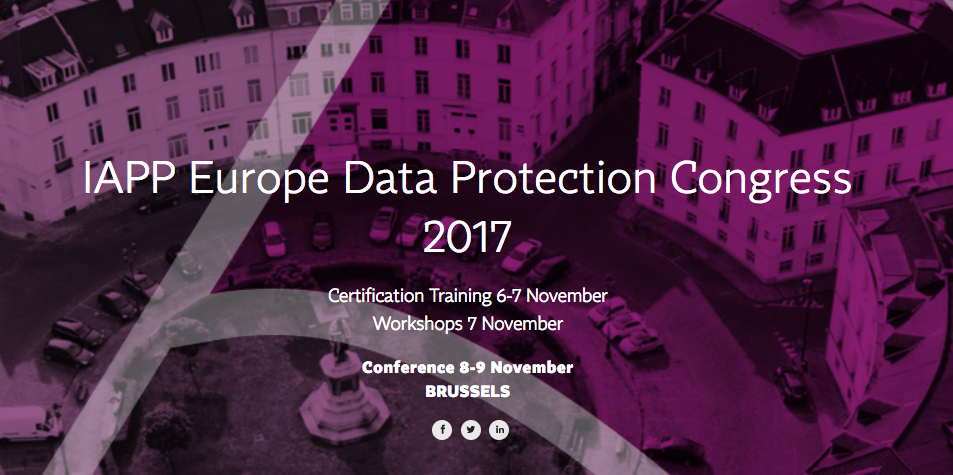 TrustArc presents at IAPP Europe Data Protection Congress 2017