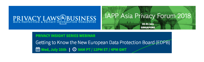 July Event Spotlight: Privacy Laws & Business Conference, IAPP Asia Privacy Forum and TrustArc Privacy Insight Series Webinar!