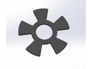 Encoder wheel plate