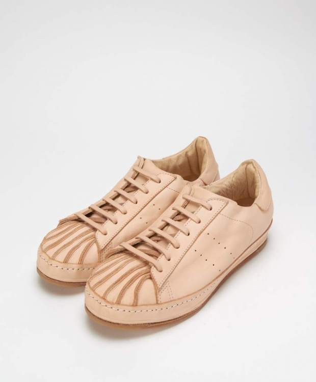 HENDER SCHEME ADIDAS SUPERSTAR NATURAL RAW LEATHER SNEAKERS.jpeg