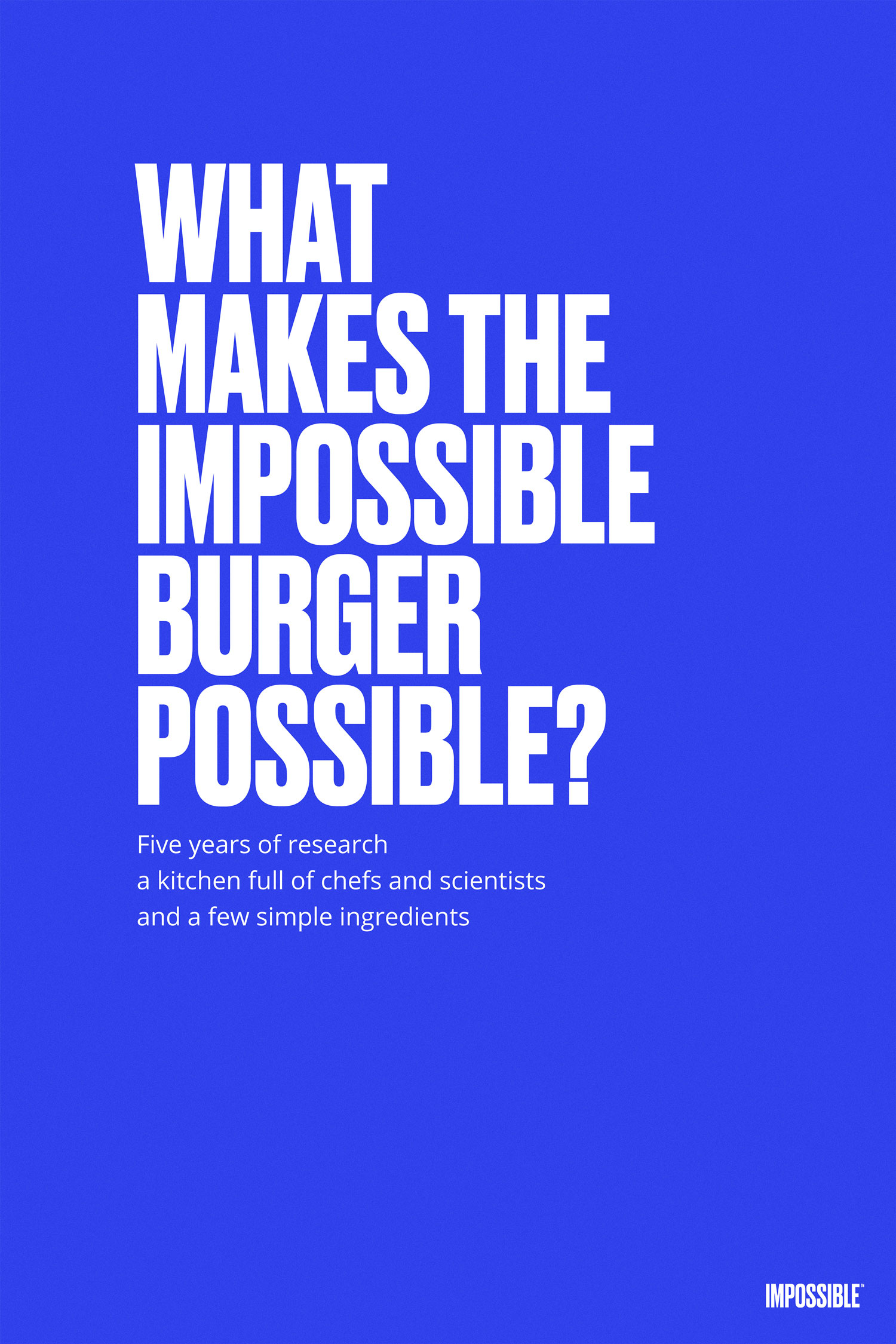 what makes the impossible possible ingredient poster
