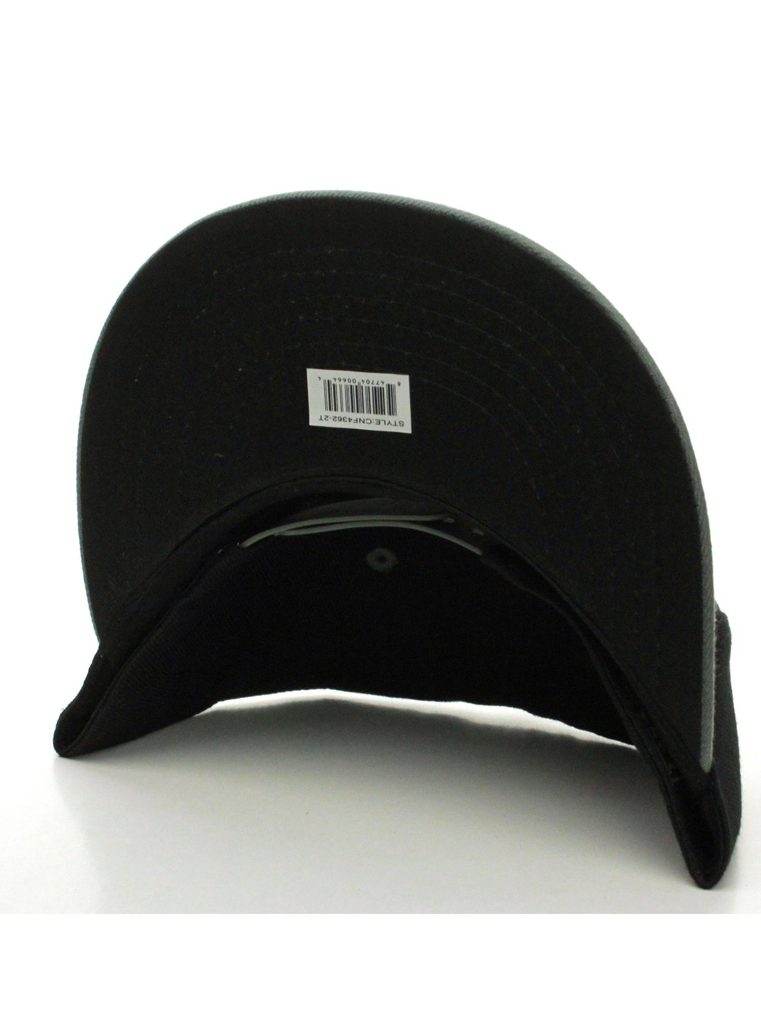 3541ba84942 D I Classic Blank Snapback Flat Bill Visor Hat Cap w Adjustable Snap ...