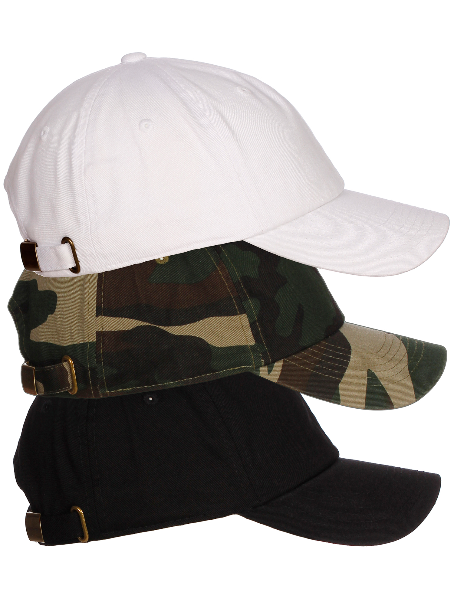 American Cities Plain Dad Hat 100 Cotton Unstructured Unisex Cap Adj Strap  3pk - White Black Camo. About this product. Picture 1 of 11  Picture 2 of  11 ... 5dd5e964d7e0