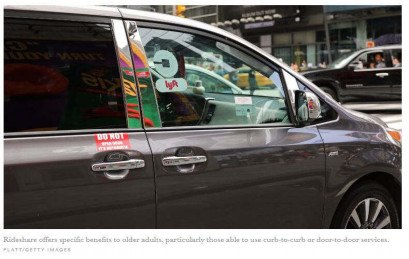 Ridesharing can help older people be functionally independent in their homes, communities