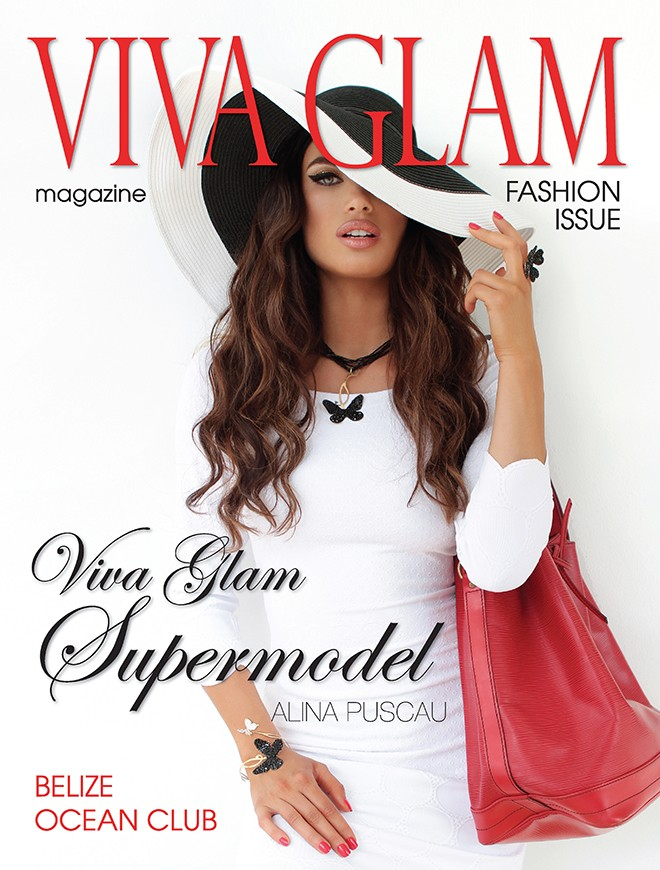 VIVA GLAM MAGAZINE COVER CASHMERE HAIR ALINA PUSCAU SUPERMODEL DEJA JORDAN
