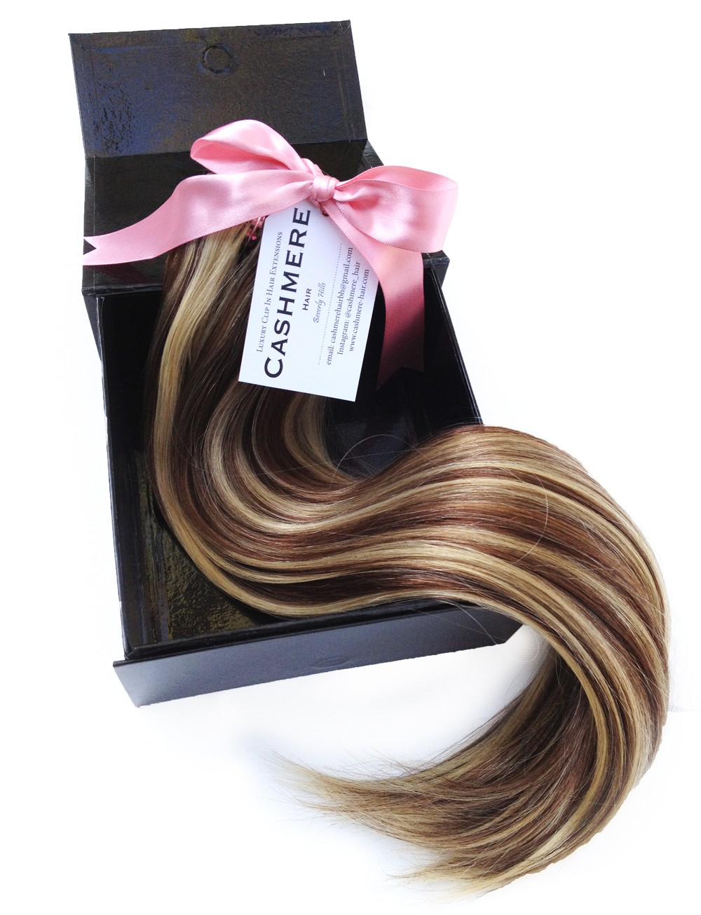 cashmere hair in boxno background