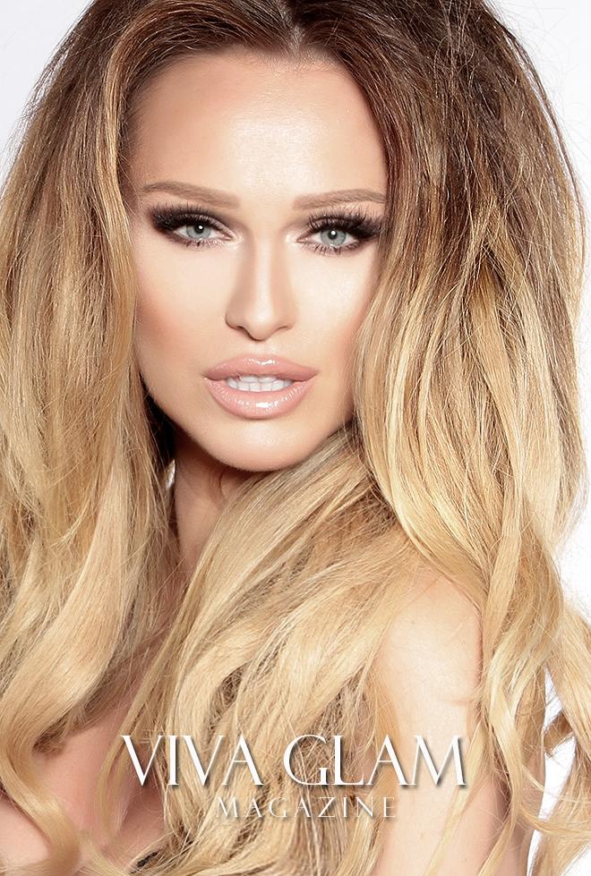 katarina van derham cashmere hair viva glam magazine valentine's makeup