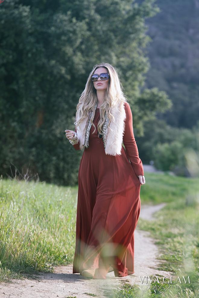 katarina van derham viva glam magazine cashmere hair deja jordan coachella festival fashion inspo faux fur vest