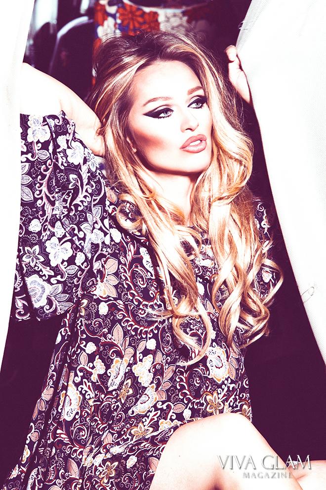 katarina van derham vegan boho dress Glamorous viva glam magazine cashmere hair deja jordan