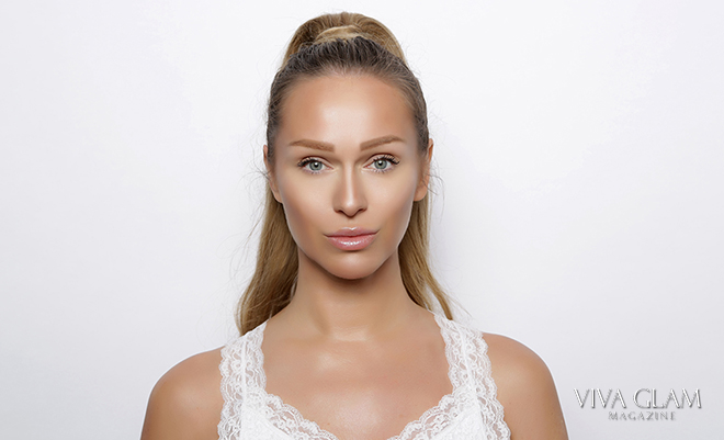viva glam magazine katarina van derham no makeup cashmere hair ponytail deja jordan