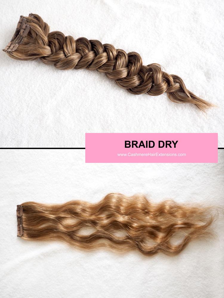 5 Ways to Air Dry Hair Extensions- viva glam magazine -BRAID-DRY