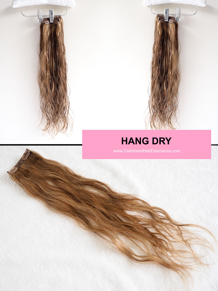 5 Ways to Air Dry Hair Extensions- viva glam magazine -HANG-DRY