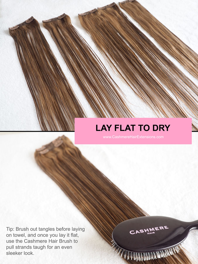 5 Ways to Air Dry Hair Extensions- viva glam magazine -LAY-FLAT-TO-DRY