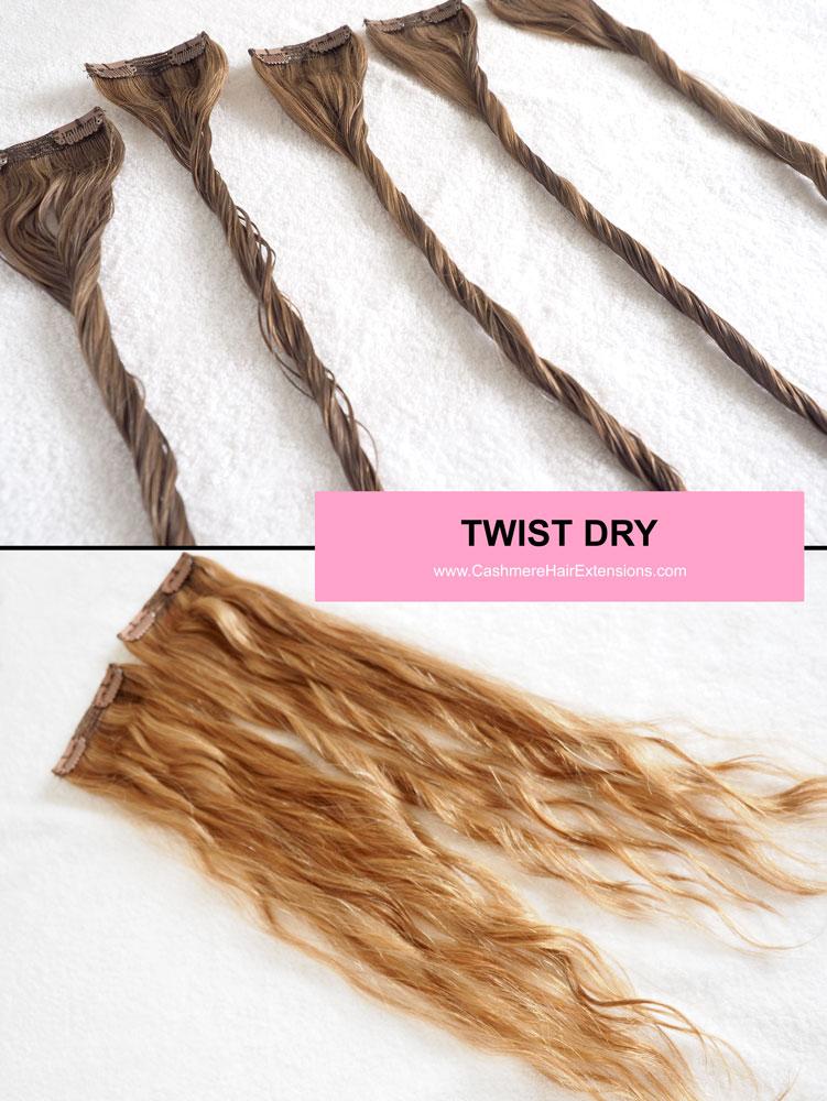 5 Ways to Air Dry Hair Extensions- viva glam magazine -TWIST-DRY