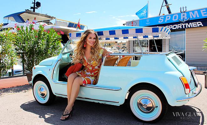 Katarina Van Derham Saint Tropez viva glam magazine travel glam girl makeup