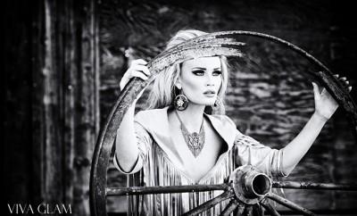 VIVA GLAM MAGAZINE LIV JAEGER Glamarella Couture Cashmere Hair Farnsworth viva glam supermodel. western couture