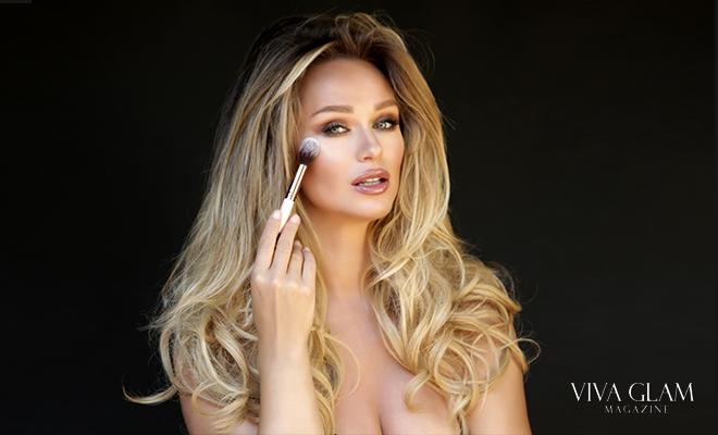 katarina van derham makeup deja jordan photographer viva glam magazine jadey wadey 180 brushes luxie highlighter cashmere hair