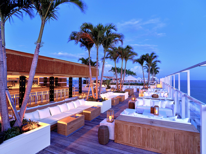 Eco Luxury Miami 1 Hotel South Beach rooftop lounge Watr