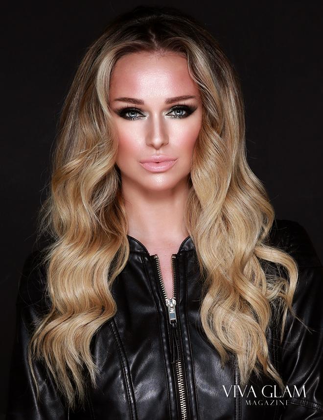 Katarina Van Derham makeup draping blush look
