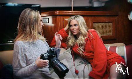 the behind the scenes of viva glam photoshoot