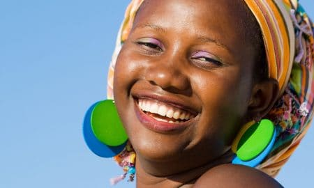Tribal african woman with beautiful smile