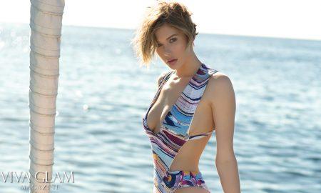 Top 20 Sexiest-2017-Adrianna-Christina-Revel-Rey-swim-Feature, Photographer Sarah Orbanic, Makeup Katarina Van Derham, Hair Angelica Curiel, Marina del Rey, Cruising Yachts