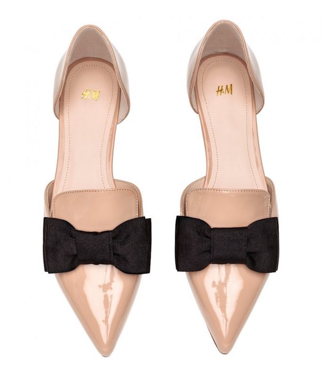 hm-Pointed Flats with Bow