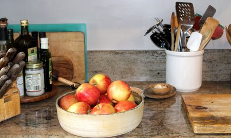 Apples on the kitchen counter