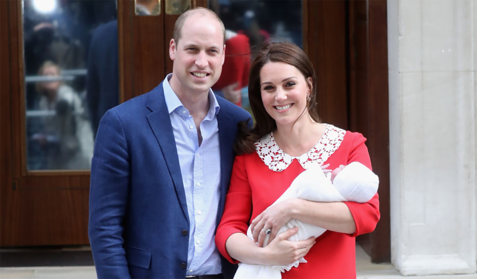 Kate Middleton Wears Red Dress For Her First Appearance With Baby No. 3