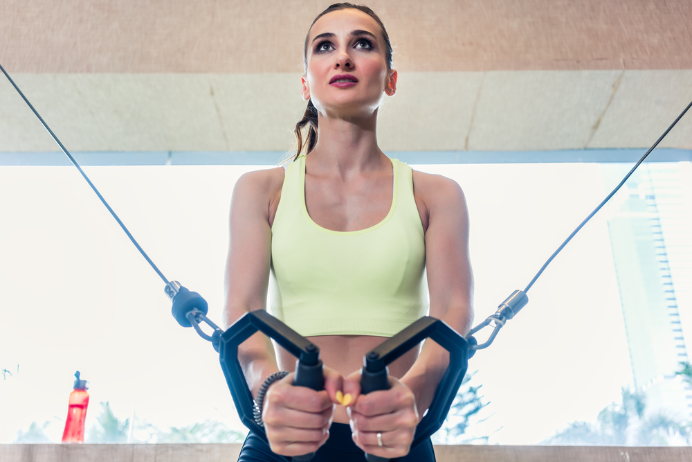 12 Exercises for Perkier Breasts low cable crossover