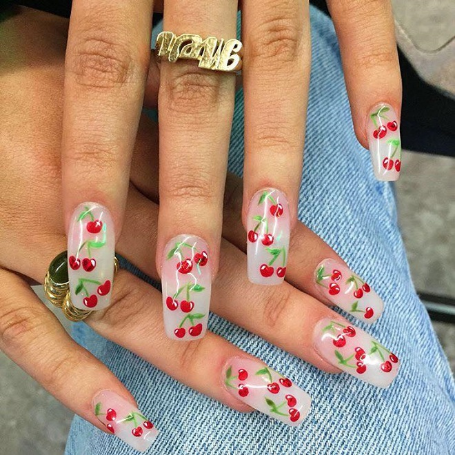 15 Nail Trends You Need to Sport This Summer cherries