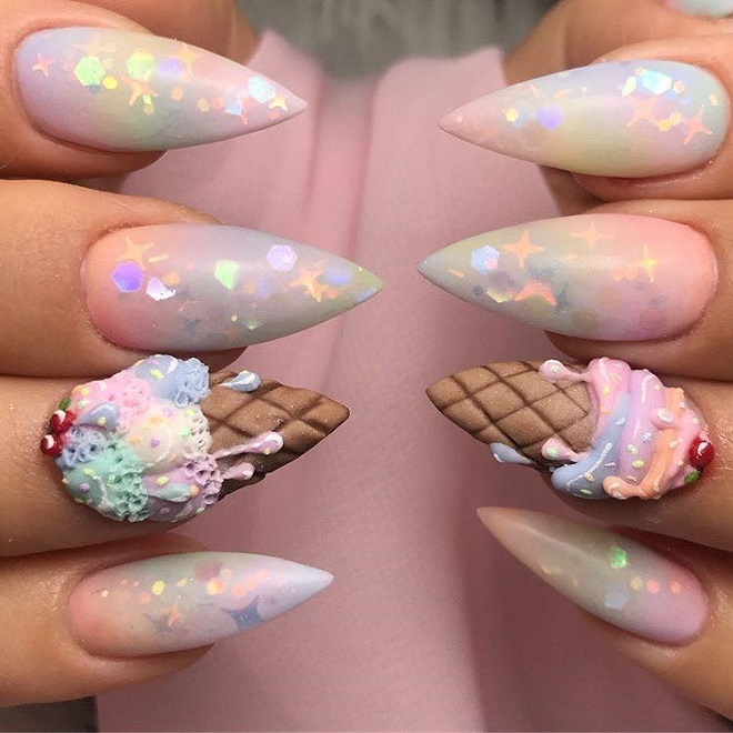 15 Nail Trends You Need to Sport This Summer ice cream