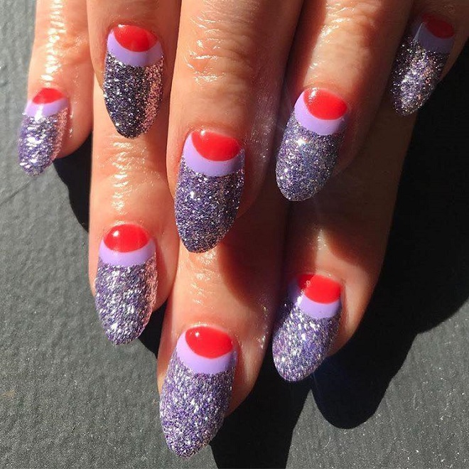 15 Nail Trends You Need to Sport This Summer lavender glitter