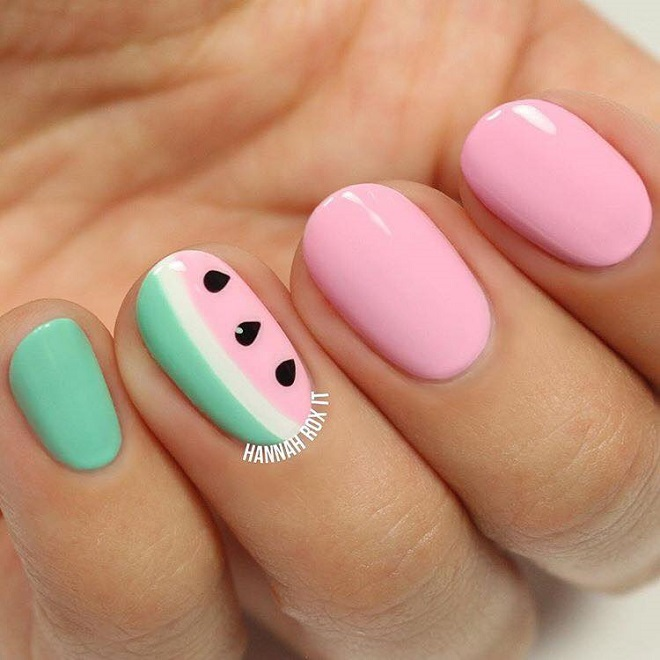 15 Nail Trends You Need to Sport This Summer watermelon