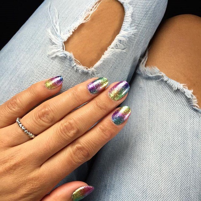 15 Nail Trends You Need to Sport This Summer rainbow glitter