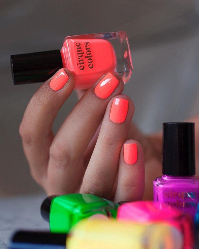 15 Nail Trends You Need to Sport This Summer neon orange